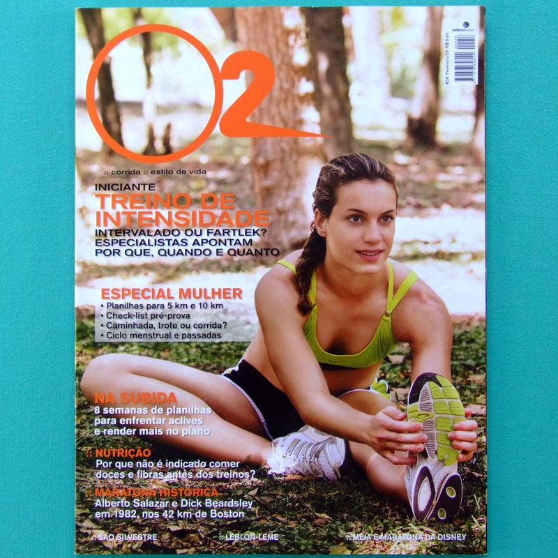 MAG O2 SPORT #58 2008 RUNNING JOGGING HEALTH DIET BIKE BRAZIL