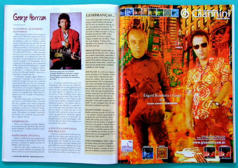 MAG GUITAR PLAYER MAGAZINE #73 MAIO 2002 GEORGE HARRISON THE BEATLES COLLECTOR BRASIL