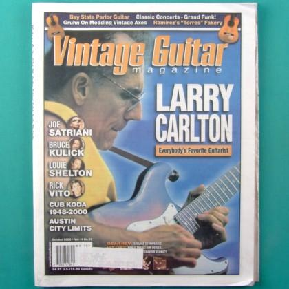MAG VINTAGE GUITAR OUTUBRO 2000 VOL.14  NO.12 LARRY CARLTON USA