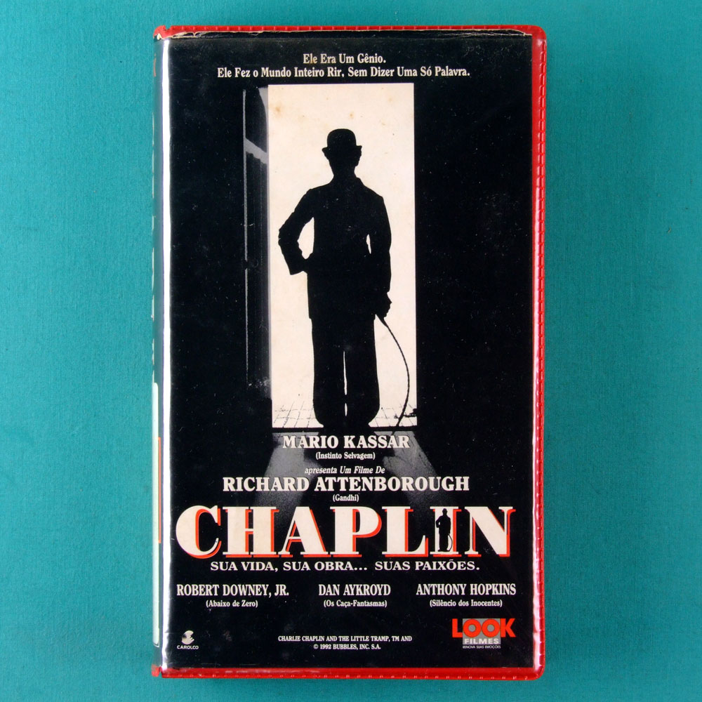 VHS RICHARD ATTENBOROUGH CHAPLIN 1992 MARIO KASSAR BRAZIL