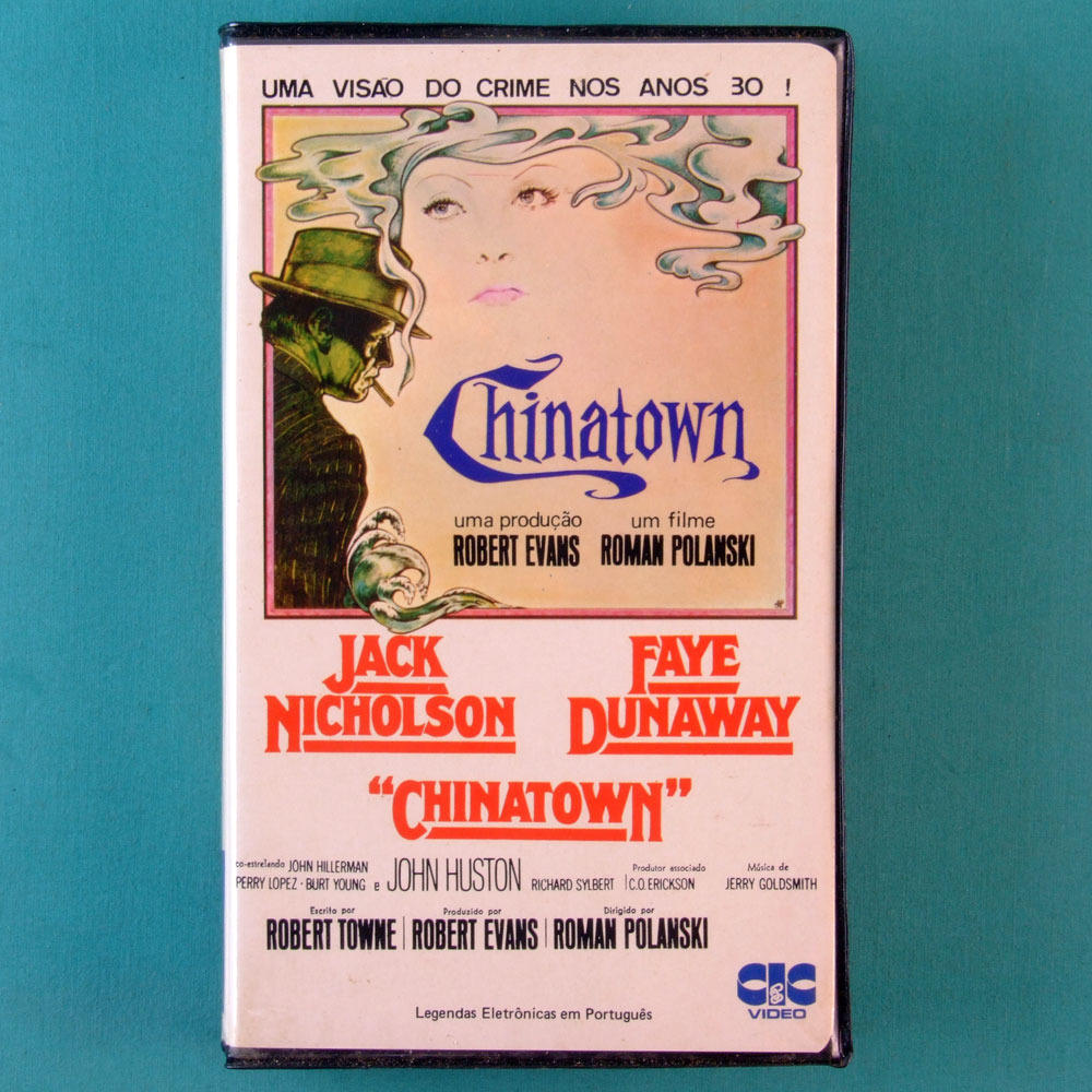 VHS ROMAN POLANSKI CHINATOWN 1974 JACK NICHOLSON FAYE DUNAWAY BRAZIL