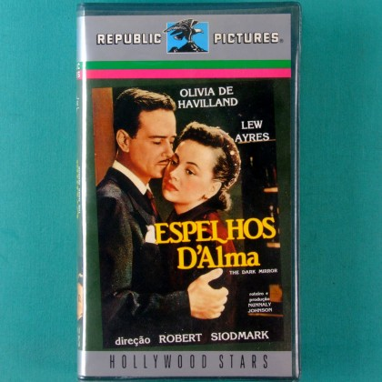 VHS ROBERT SIODMARK THE DARK MIRROR 1946 OLIVIA DE HAVILLAND LEW AYRES BRAZIL