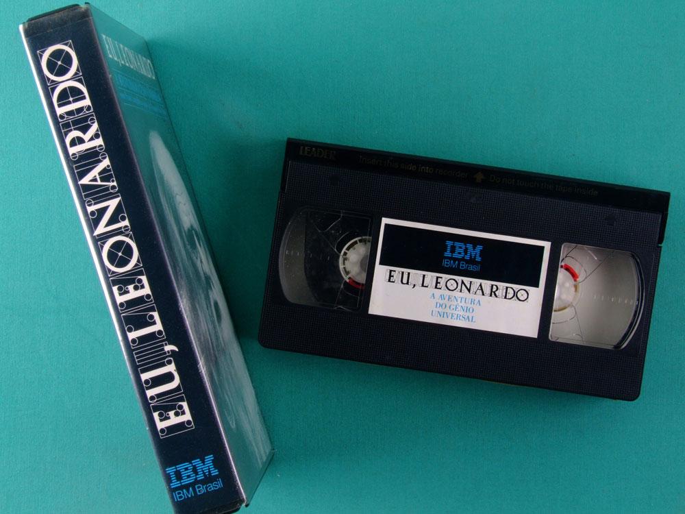 VHS EU, LEONARDO - A AVENTURA DO GENIO UNIVERSAL - LEONARDO DA VINCI LIMITED ED BY IBM BRAZIL