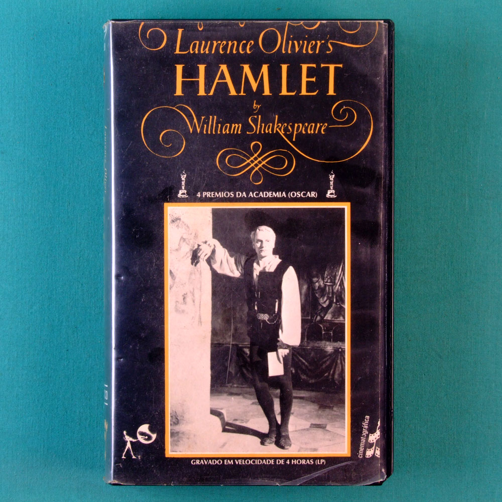 VHS LAURENCE OLIVIER'S HAMLET WILLIAM SHAKESPEARE BRAZIL