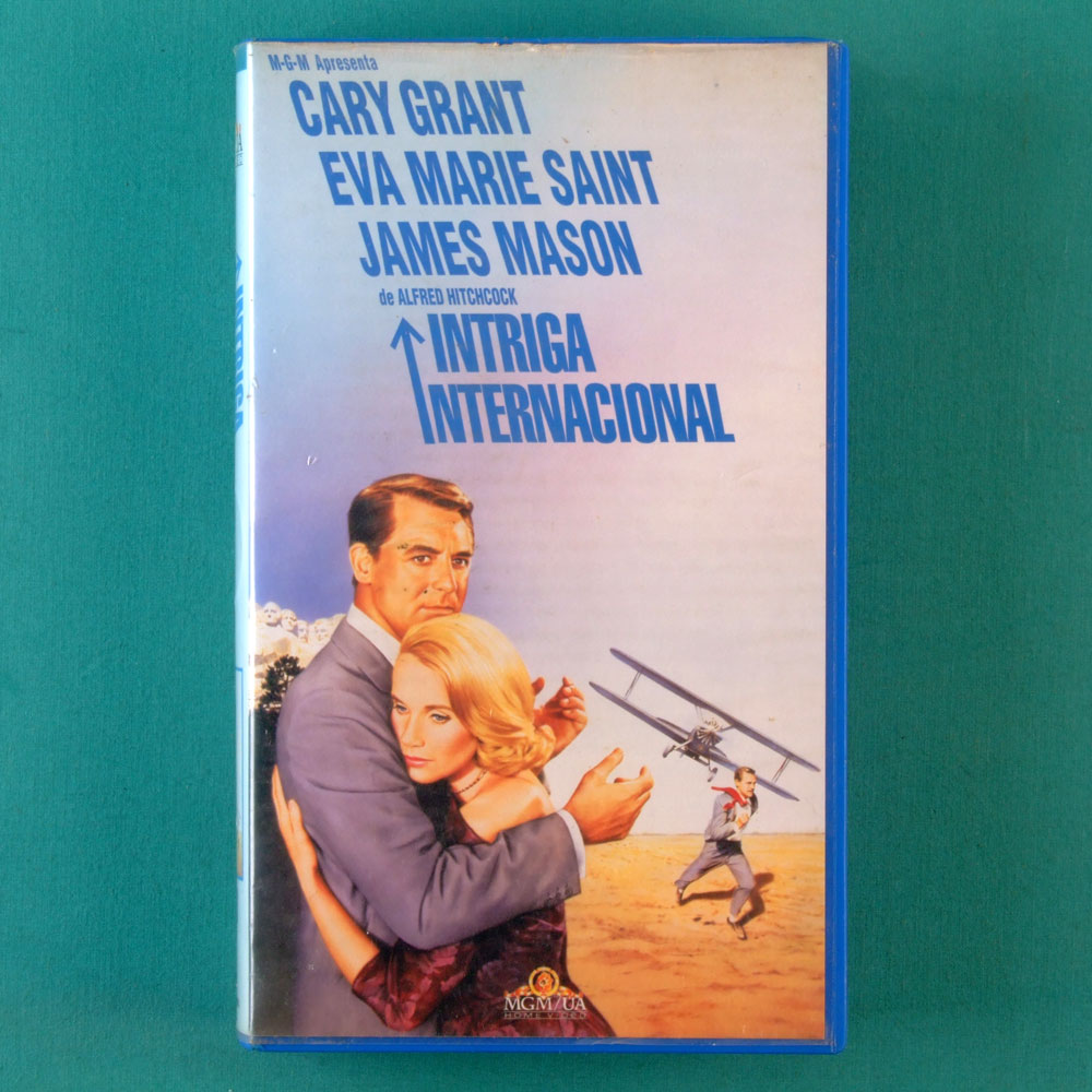 VHS ALFRED HITCHCOCK NORTH BY NORTHWEST 1969 JAMES MASON EVA MARIE SAINT BRAZIL