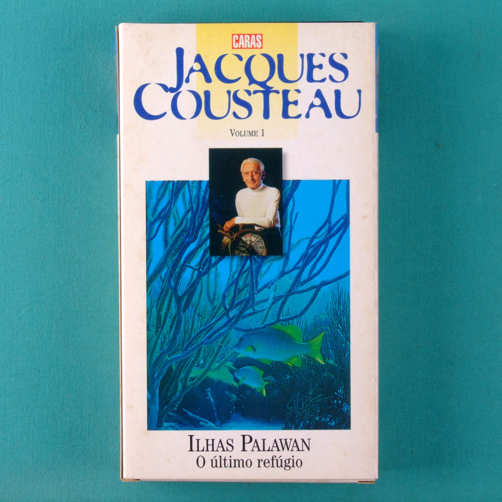 VHS JACQUES COUSTEAU VOL 1 ILHAS PALAWAN O ULTIMO REFUGIO CARAS BRAZIL