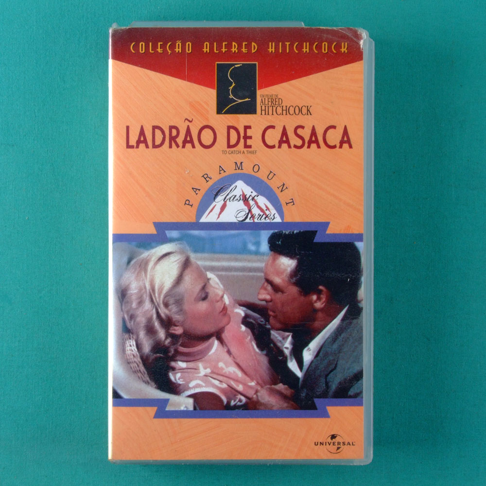 VHS ALFRED HITCHCOCK TO CATCH A THIEF1954 BRAZIL