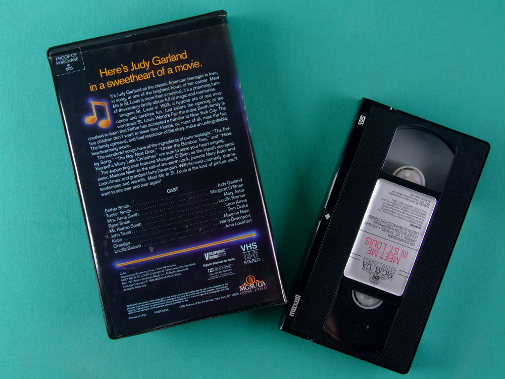 VHS JUDY GARLAND MEET ME IN ST. LOUIS 1986 USA