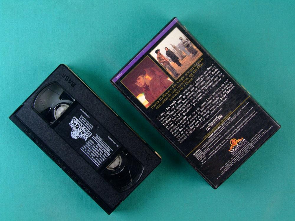 VHS JOHN SCHLESINGER MIDNIGHT COWBOY 1994 DUSTIN HOFFMAN JON VOIGHT BRASIL