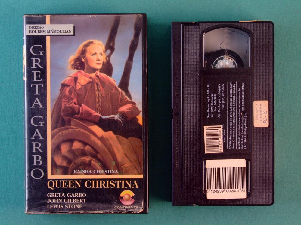 VHS ROUBEM MAMOULIAN QUEEN CHRISTINA GRETA GARBO BRAZIL
