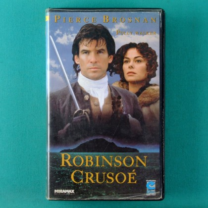 VHS GEORGE MILLER AND RODNEY K. HARDY ROBINSON CRUSOE 1997 PIERCE BROSNAN BRAZIL