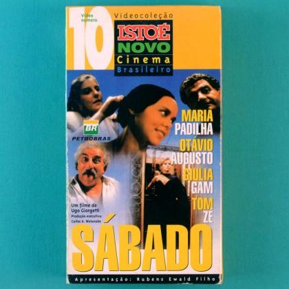 VHS UGO GIORGETTI SABADO 1995 ISTO É NOVO CINEMA 10 TOM ZE MARIA PADILHA OTAVIO AUGUSTO BRAZIL