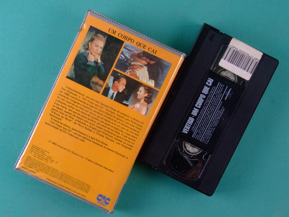 VHS ALFRED HITCHCOCK VERTIGO 1983 BRAZIL