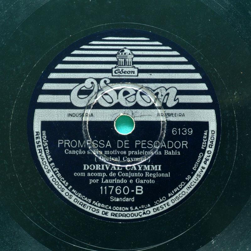 78 RPM DORIVAL CAYMMI RAINHA DO MAR PROMESSA DE PESCADOR REGIONAL SAMBA FOLK  BRAZIL