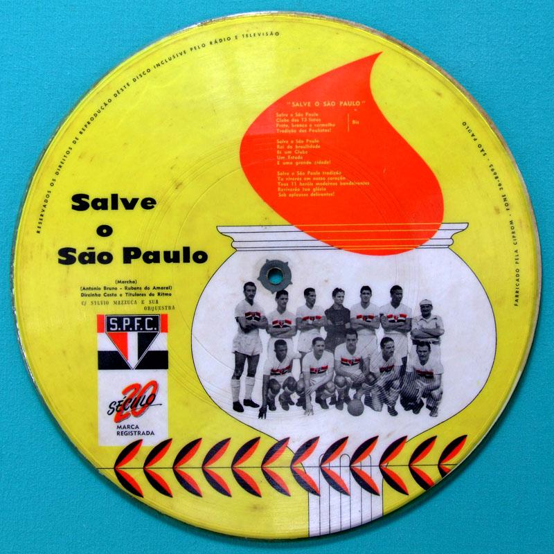 78 RPM SAO PAULO FUTEBOL CLUBE SPFC SOCCER BRAZILIAN FOOTBALL SYLVIO MAZZUCA BRAZIL