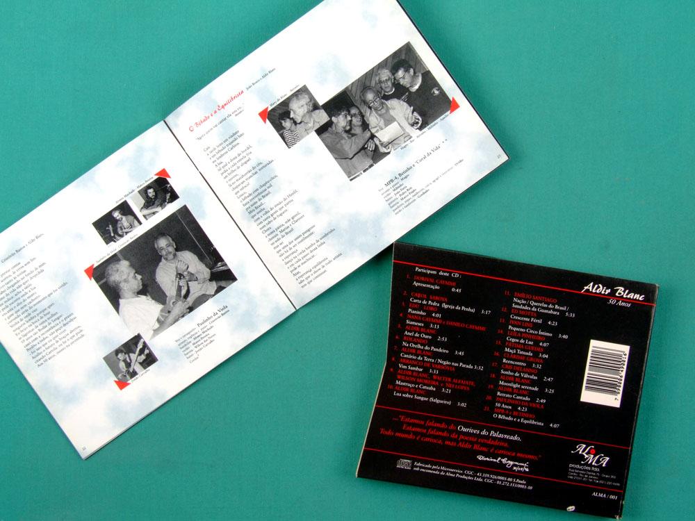 CD ALDIR BLANC 50 ANOS 1996 BOSSA SAMBA IVAN LINS EDU LOBO MPB4 DORIVAL CAYMMI BRAZIL