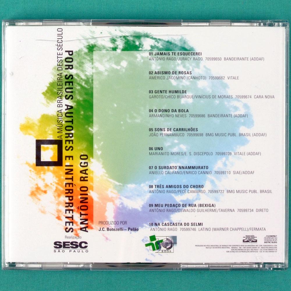 CD ANTONIO RAGO - POR SEUS AUTORES E INTERPRETES BRAZIL