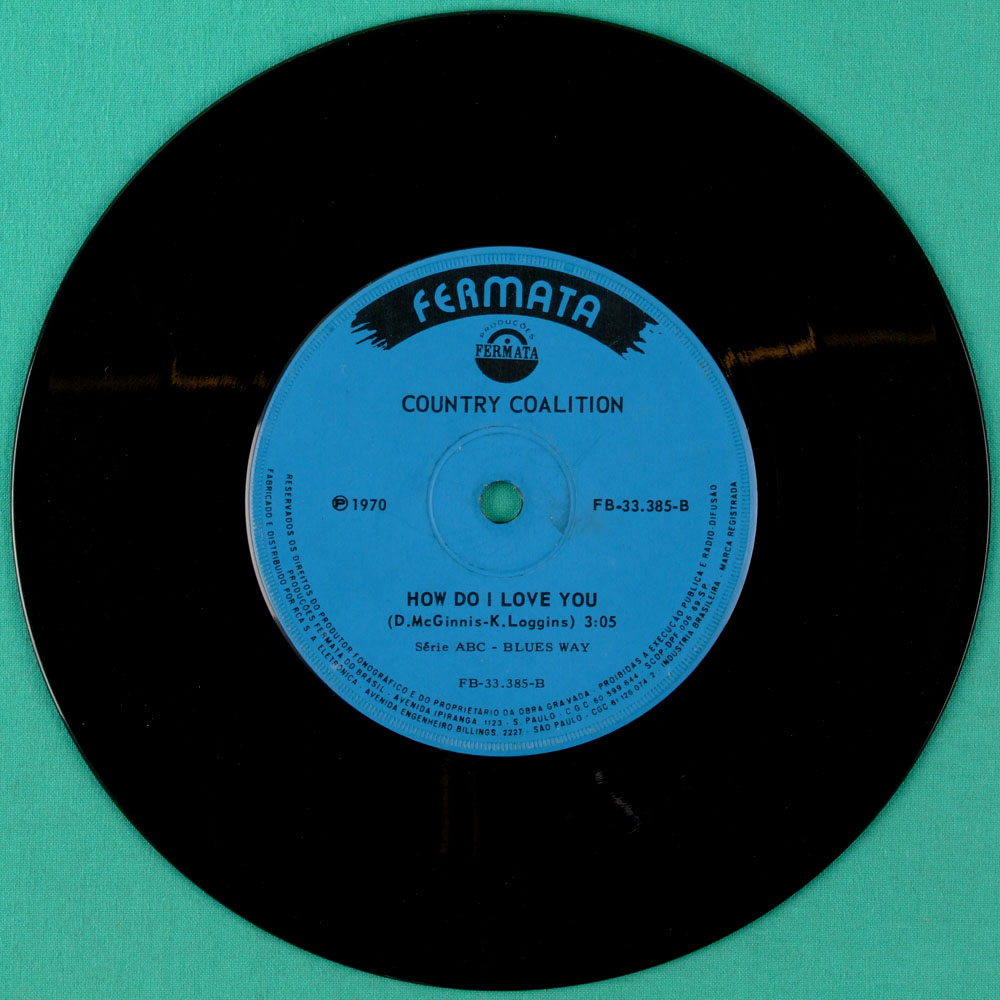 "7"" COUNTRY COALITION TIME TO GET IT TOGETHER 1970 BRAZIL"