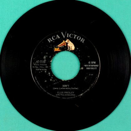 "7"" ELVIS PRESLEY 1957 DON'T I BEG OF YOU 45 RPM ROCK FOLK BEAT USA"