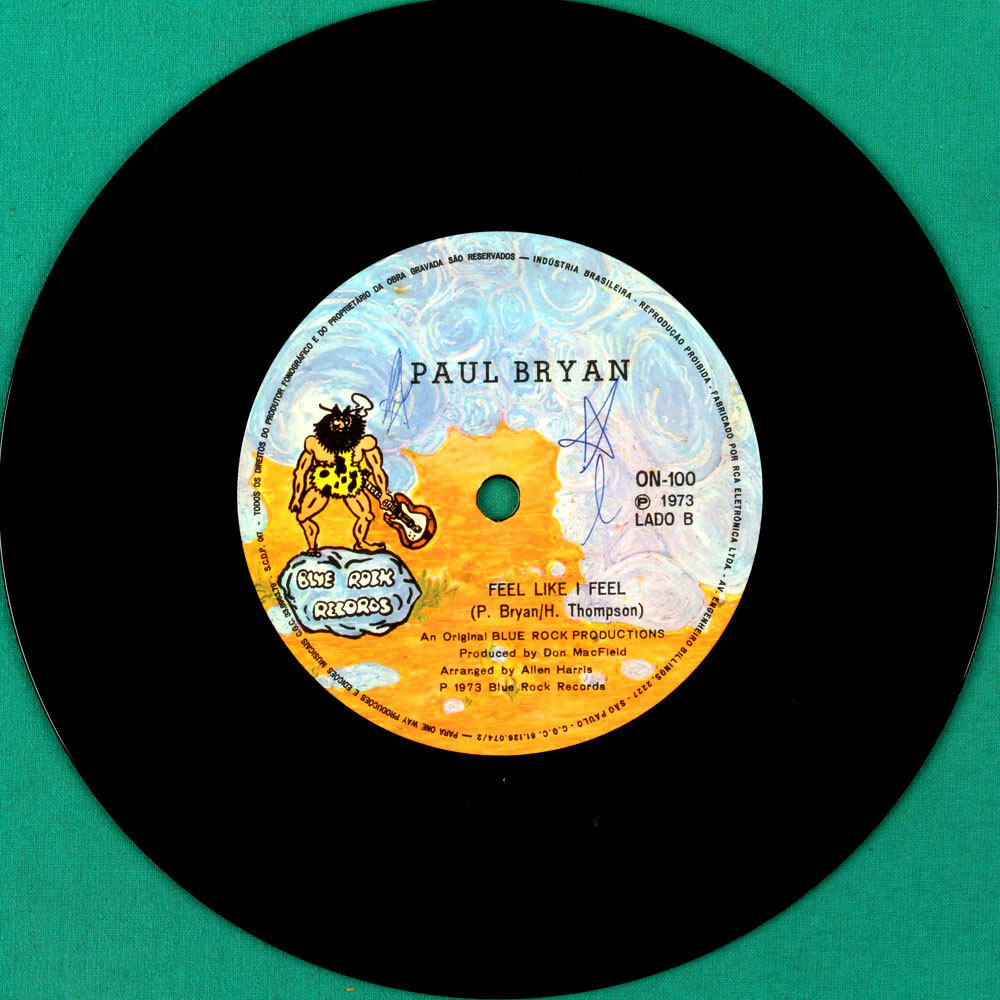 "7"" PAUL BRYAN SERGIO SA MAYBE  OBSCURE FOLK CULT BRAZIL"