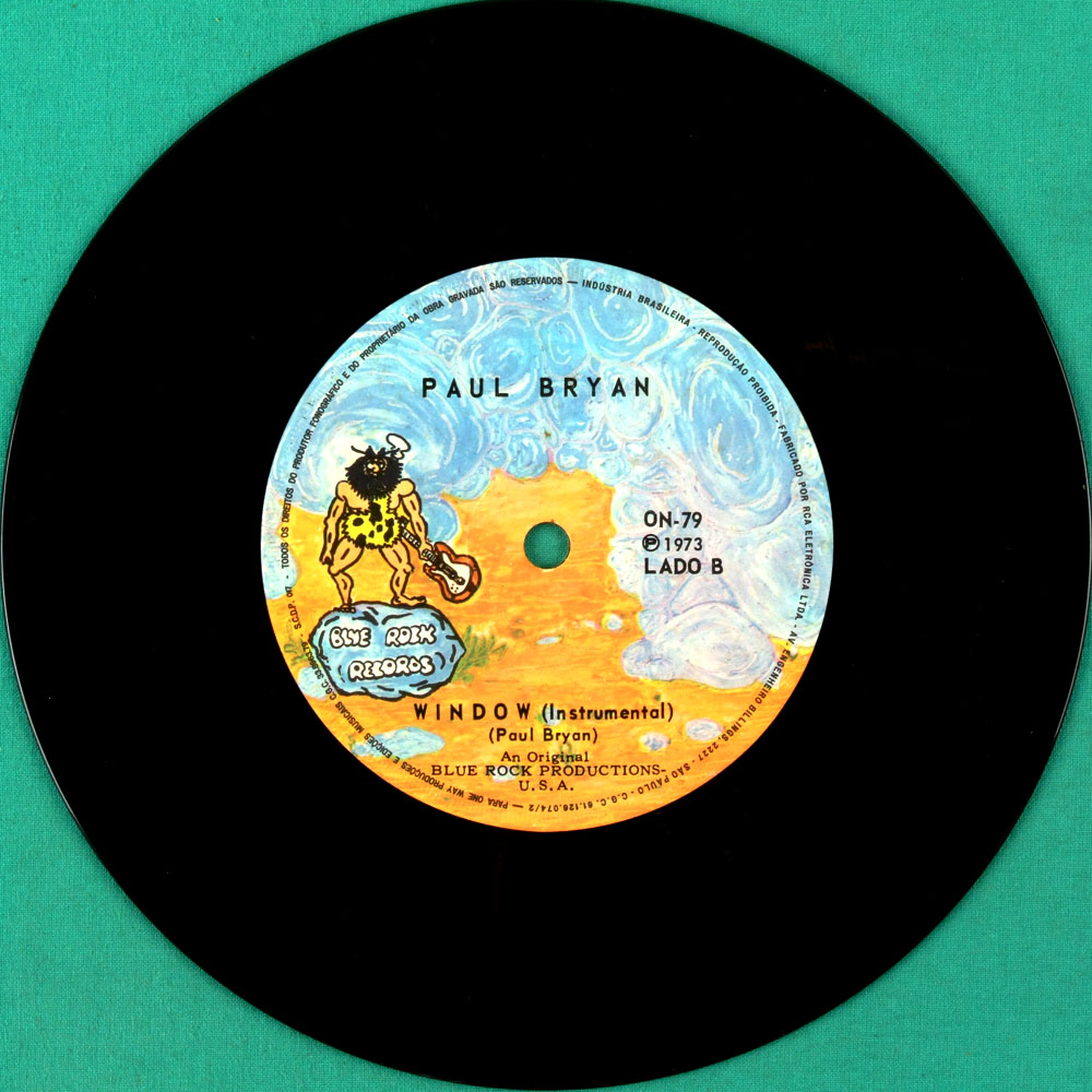 "7"" PAUL BRYAN WINDOW 1973 FOLK PSYCH OBSCURE CULT BRASIL"