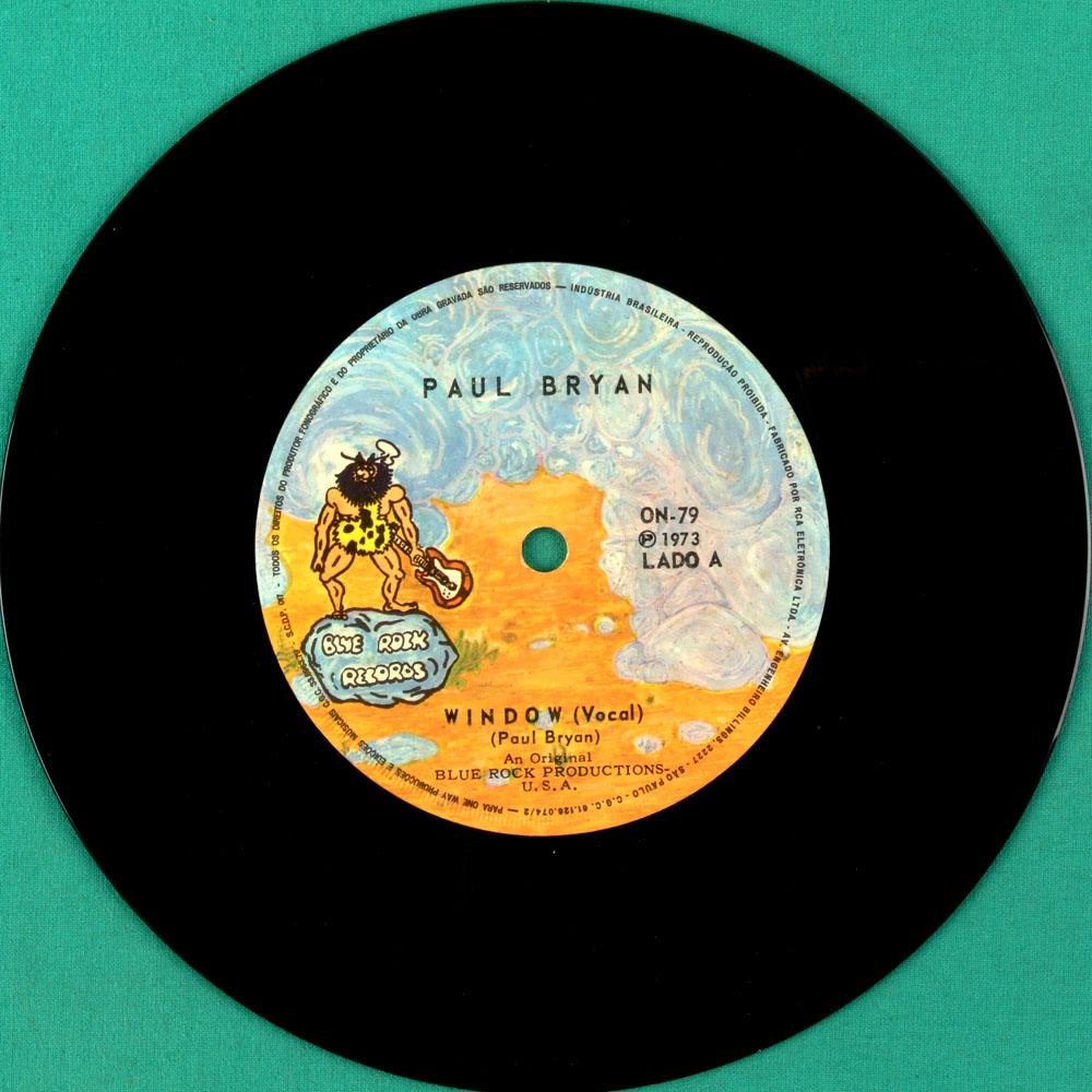 """7"""" PAUL BRYAN WINDOW 1973 FOLK PSYCH OBSCURE CULT BRASIL"""