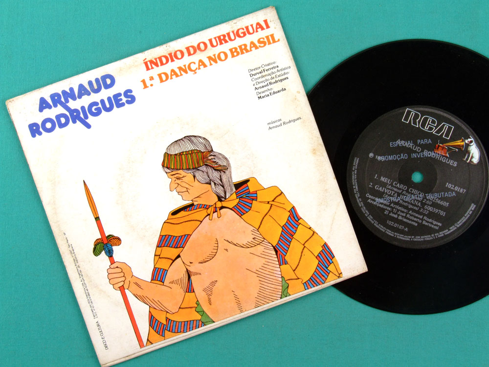 "7"" ARNAUD RODRIGUES GAIVOTA HUMANA 1977 FOLK SOUL DJ BRAZIL"