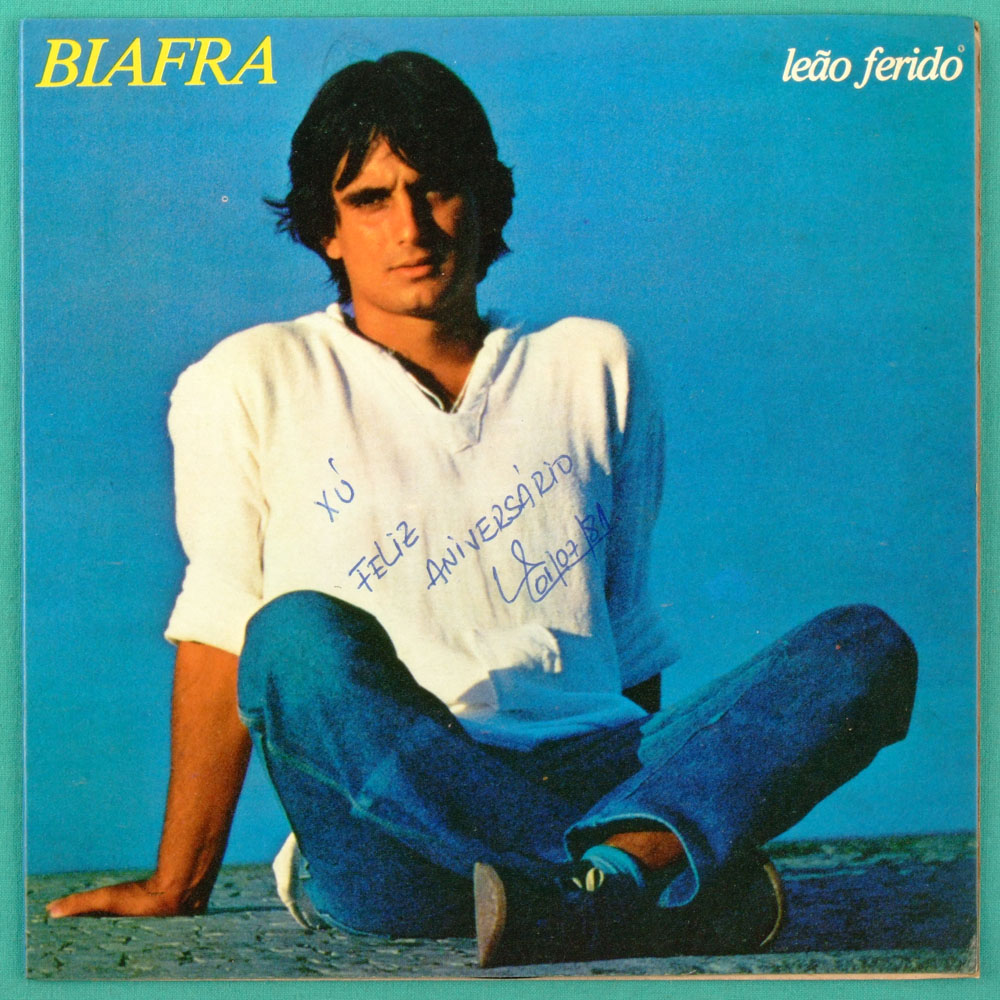 "7"" BIAFRA LEAO FERIDO DESPERTAR 1981 FOLK POP PS BRAZIL"