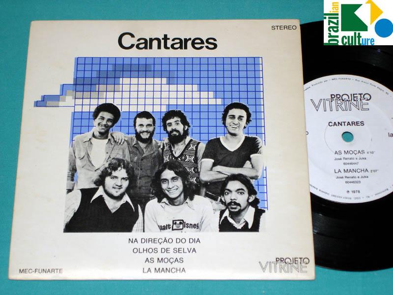 "7"" EP CANTARES 1978 ZE RENATO JUKA FILHO FOLK BOSSA JAZZ VOCAL PSYCH PS BRAZIL"