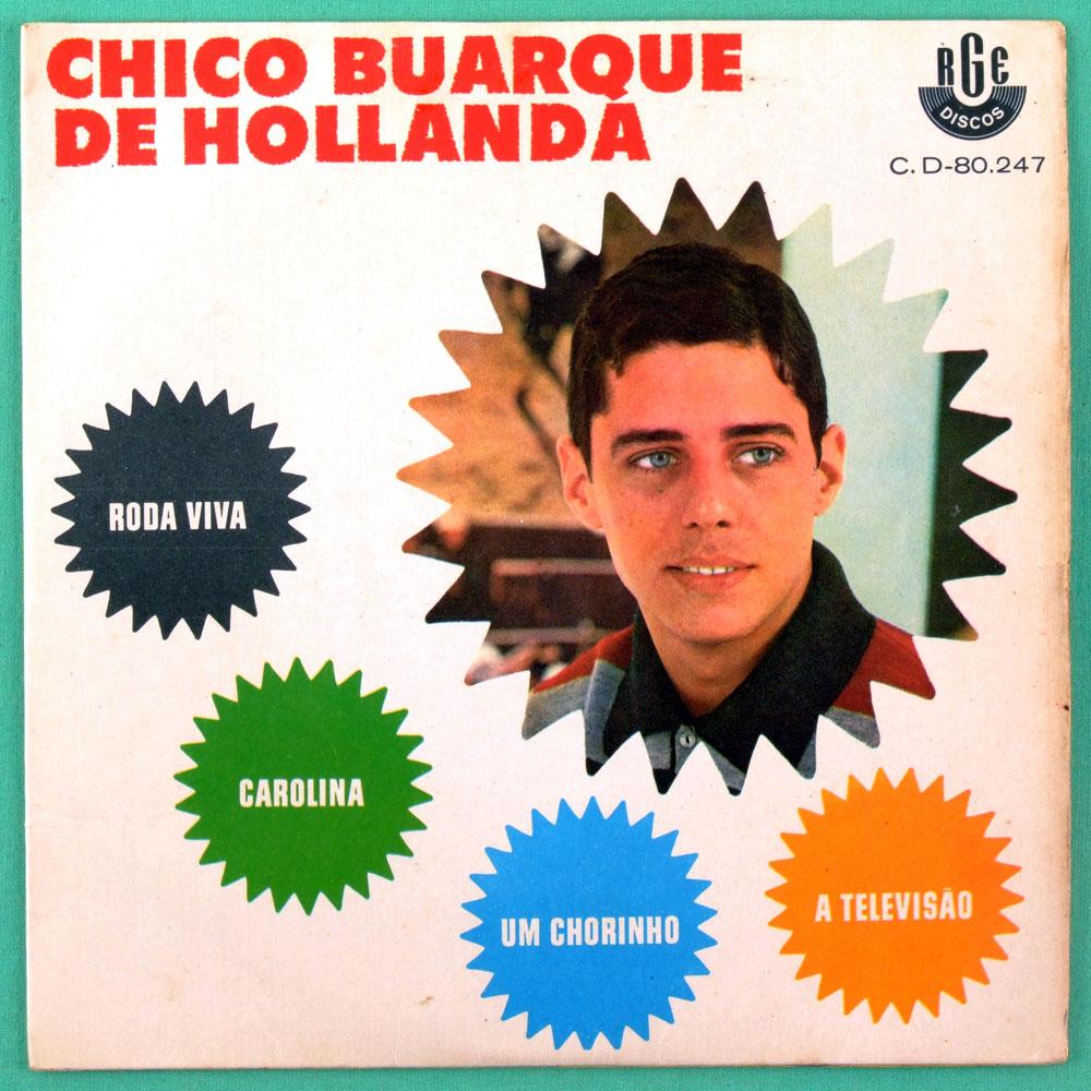 "7"" CHICO BUARQUE RODA VIVA 1967 MPB BOSSA SAMBA EP BRAZIL"