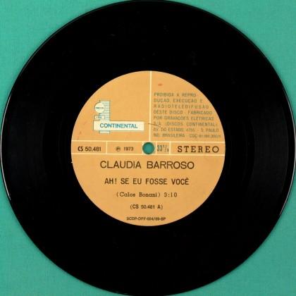 """7"""" CLAUDIA BARROSO AH SE EU FOSSE VOCE FOLK 1973 BRAZIL"""