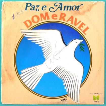 """7"""" DOM E RAVEL PAZ E AMOR FOLK PSYCH BEAT BRAZIL"""