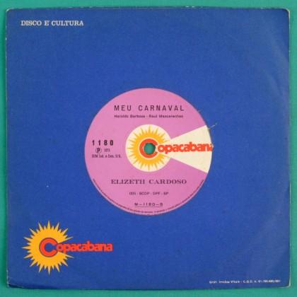 "7"" ELIZETH ELIZETE CARDOSO EU BEBO SIM 1972 SAMBA BRAZIL"