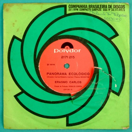 "7"" ERASMO CARLOS PANORAMA ECOLOGICO PSYCH GROOVE BRAZIL"