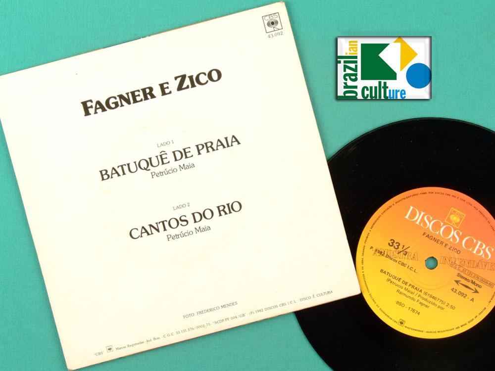 """7"""" FAGNER ZICO BATUQUE DE PRAIA 1982 FOLK SOCCER BRAZIL"""
