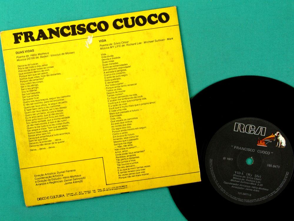 "7"" FRANCISCO CUOCO 1977 SALINAS HELIO MATHEUS FOLK BRAZIL"