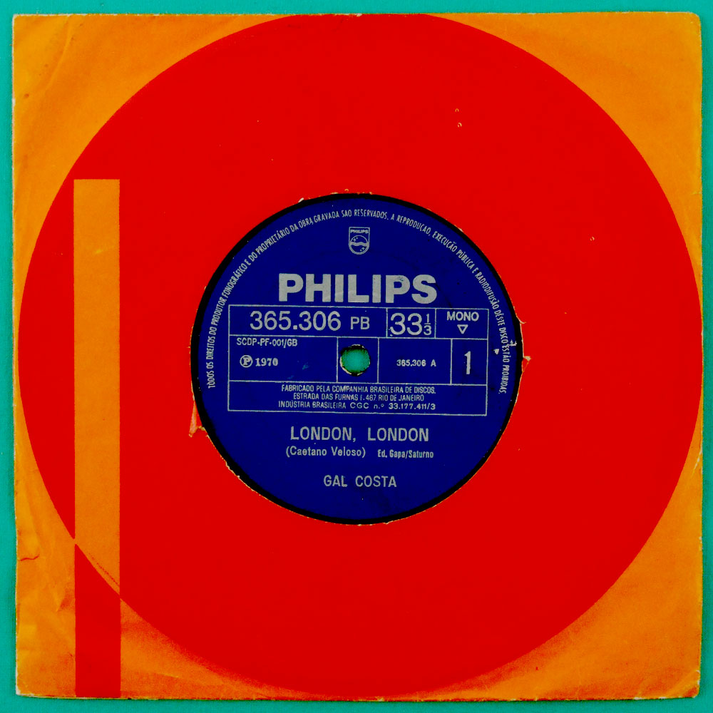 "7"" GAL COSTA LONDON LONDON TROPICALIA PSYCH EXP BRAZIL"
