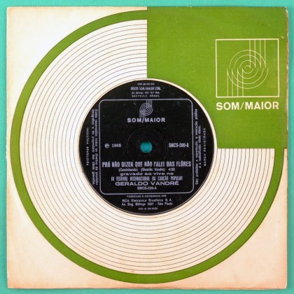 """7"""" GERALDO VANDRE CAMINHANDO LIVE 3 FIC 1968 FOLK BRAZIL"""