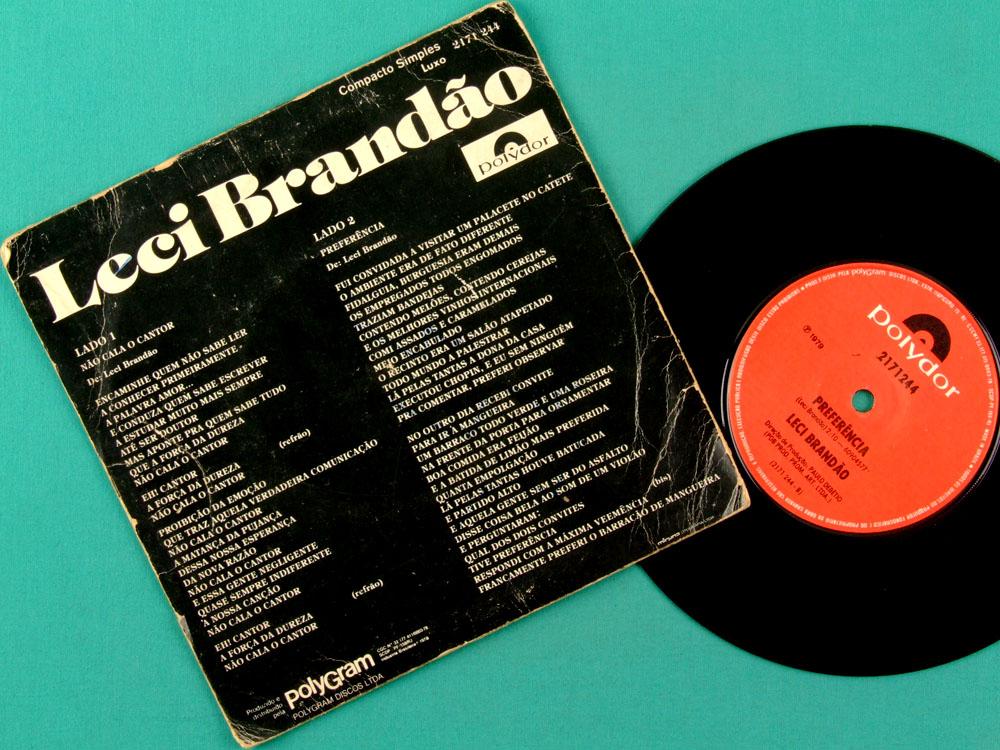 "7"" LECI BRANDAO NAO CALA O CANTOR 1979 SAMBA ROOTS BRAZIL"