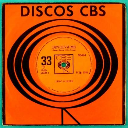 """7"""" LENO AND LILIAN POBRE MENINA DEVOLVA-ME 1966  BRAZIL"""
