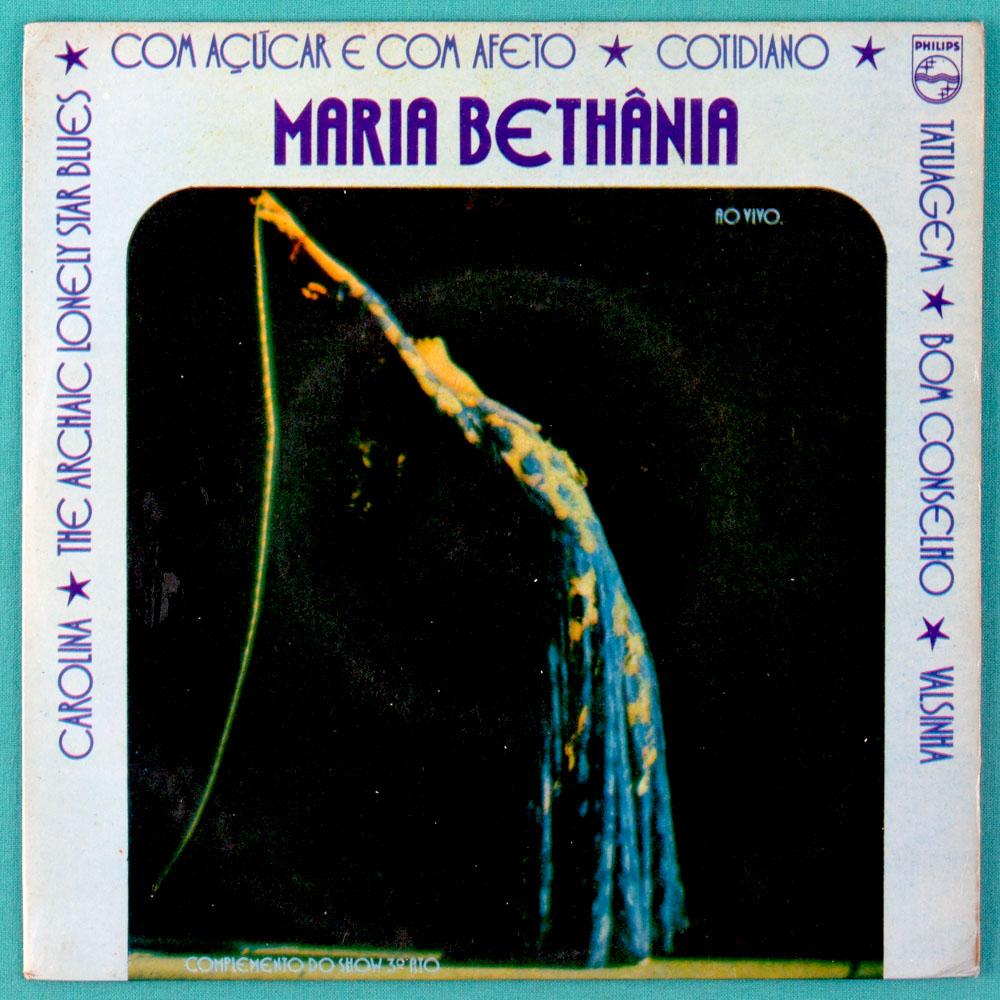 "7"" MARIA BETHANIA COTIDIANO 1974 BOSSA FOLK EP BRAZIL"
