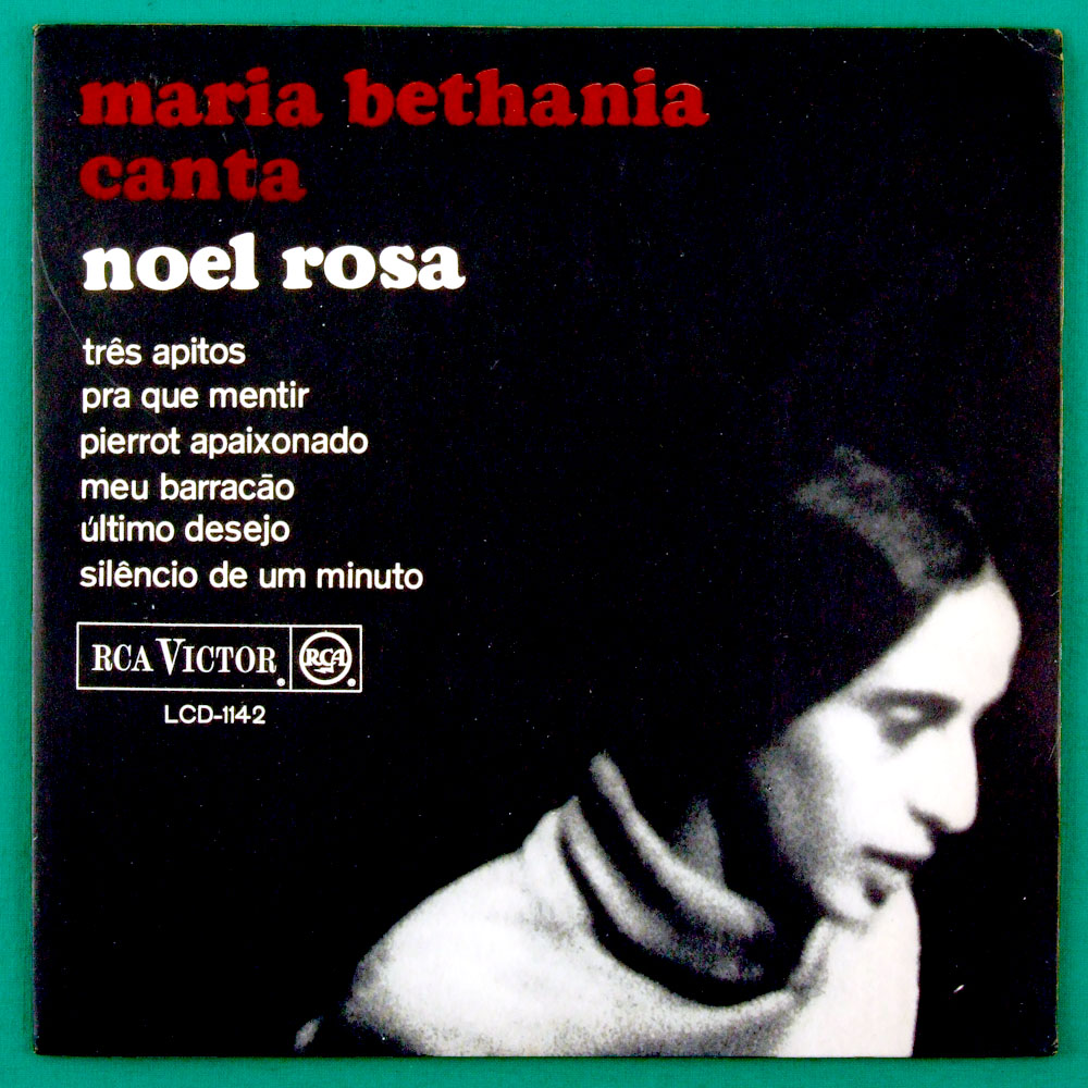 """7"""" MARIA BETHANIA CANTA NOEL TRES APITOS 1965 BOSSA FOLK EP BRAZIL"""