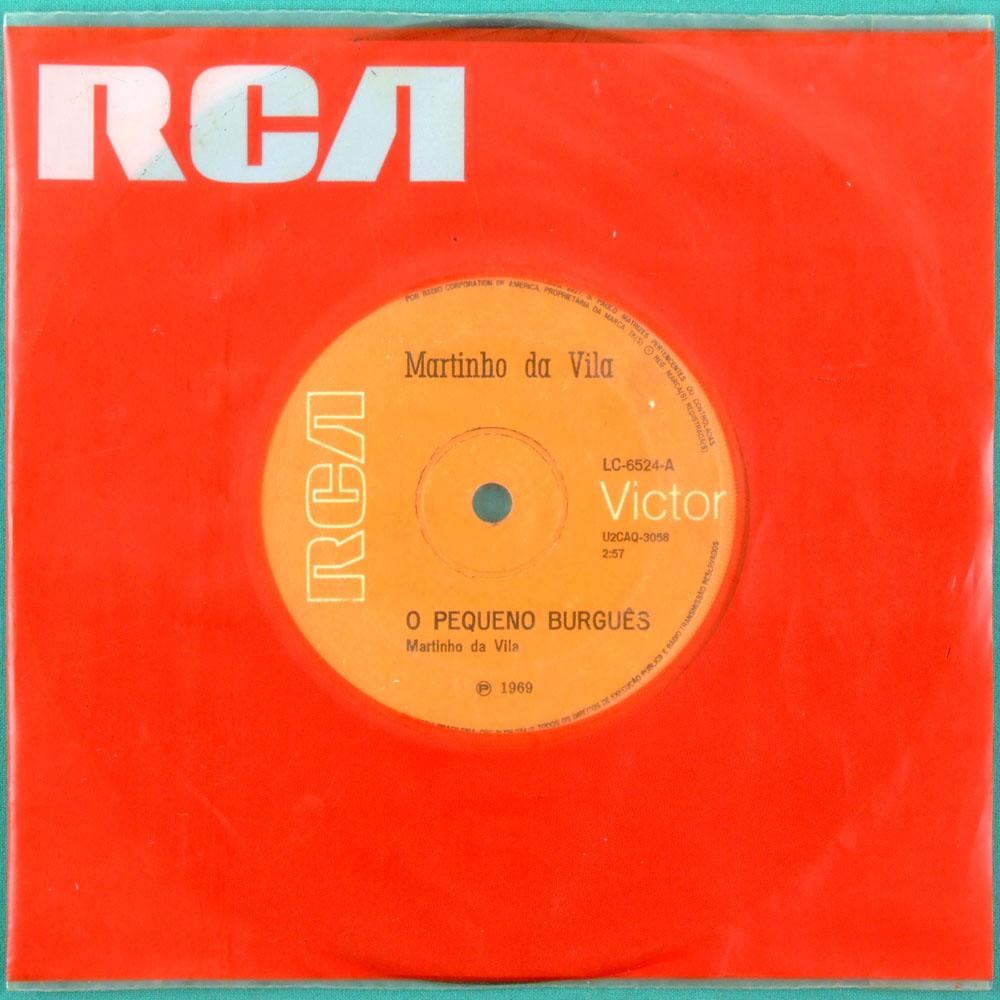 """7"""" MARTINHO DA VILA O PEQUENO BURGUES 1969 SAMBA BRASIL"""