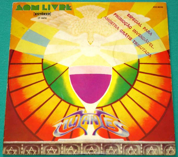 "7"" EP MUTANTES 1976 SERGIO DIAS FOLK FUZZ ROCK PROG PSYCH PS *PROMO* RARE BRAZIL"