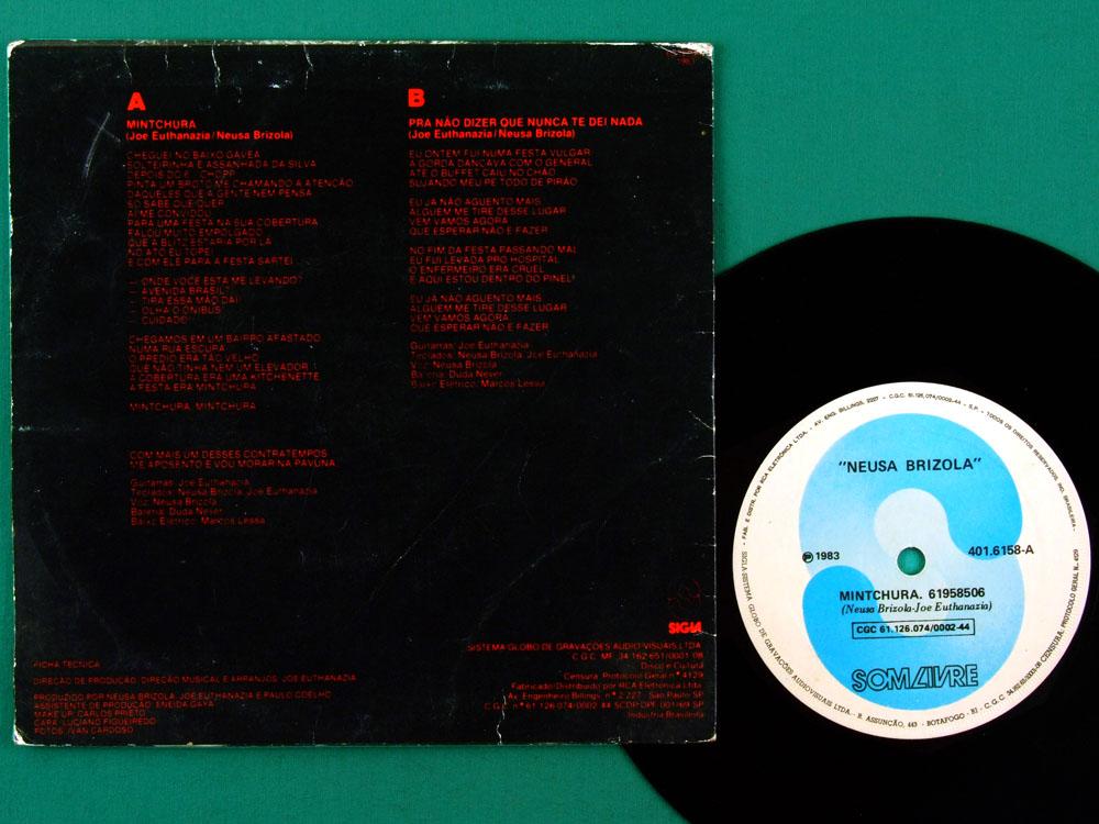 "7"" NEUSA NEUSINHA BRIZOLA MINTCHURA 1983 ROCK PSYCH BRAZIL"