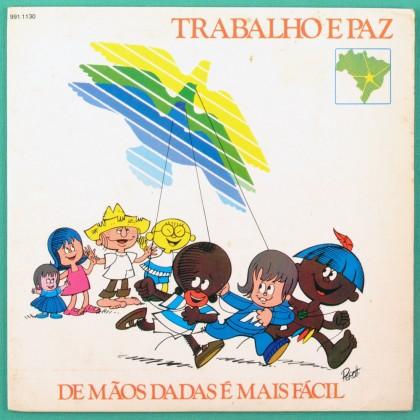 """7"""" OS INCRIVEIS TRABALHO E PAZ MARCAS DO QUE SE FOI FOLK MPB EP BRAZIL"""