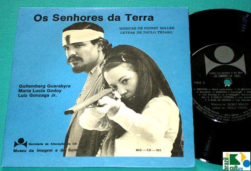 "7"" EP OST OS SENHORES DA TERRA SIDNEY MILLER GUARABYRA GONZAGA JR. VESPAR BRAZIL"
