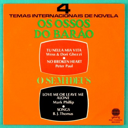 "7"" SOAP OS OSSOS DO BARAO O SEMI DEUS 1973 FOLK BRAZIL"