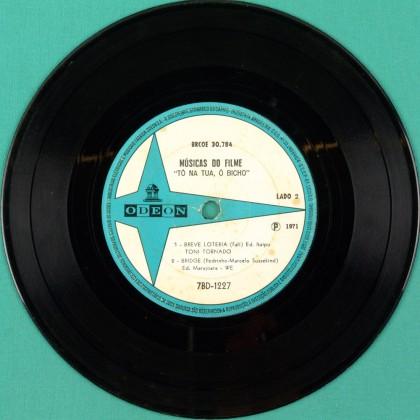 """7"""" OST TO NA TUA O BICHO TONY TORNADO EVA TOBOGA BRAZIL"""