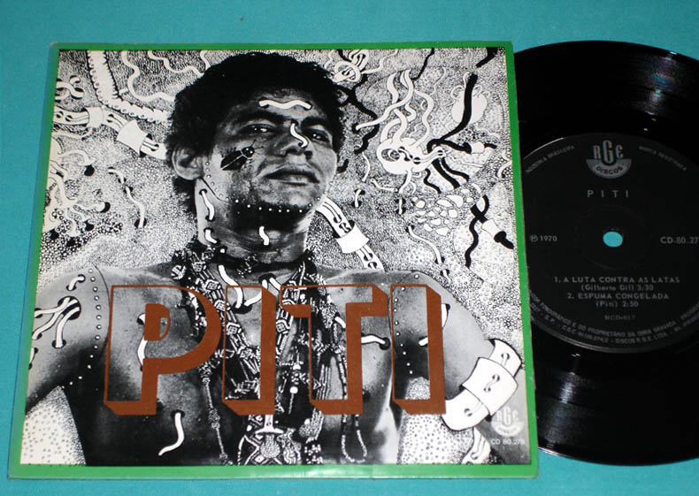 "7"" EP PITI 1970 HIPPIE FOLK TROPICALIA SOUL GROOVE PSYCH PS BRAZIL"